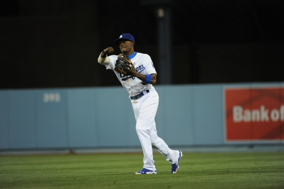 Dee Gordon has appeared only at second base thus far in 2014. Photo: Juan Ocampo, Los Angeles Dodgers