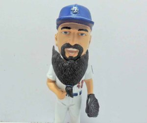 This Brian Wilson bobblebeard has a beard that bobbles. Photo: Rancho Cucamonga Quakes