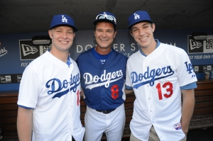 Chris Anderson, left, and Tom Windle, right with Don Mattingly.