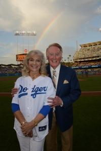 Vin and Sandi Scully, 2012 (Jon SooHoo/Los Angeles Dodgers)