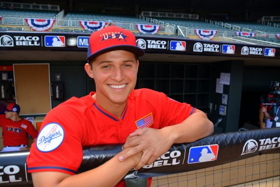 Corey Seager at Sunday's Futures Game.