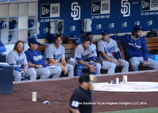 LOS ANGELES DODGERS AT SAN DIEGO PADRES