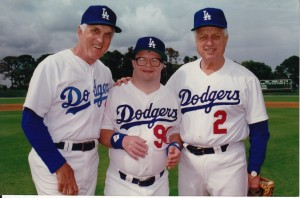 Carl Erskine, Jimmy Erskine and Tommy Lasorda.