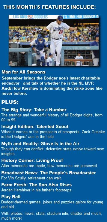 September magazine features