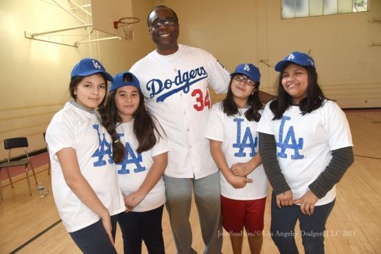 Los Angeles Dodgers Caravan at Hollenbeck Middle School