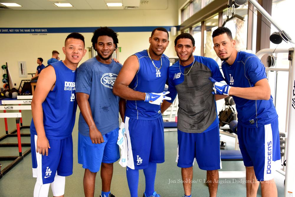 Los Angeles Dodgers workout