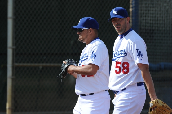David Aardsma (58) is one of 18 non-roster invites to Dodger camp. (Jon SooHoo/©Los Angeles Dodgers,LLC 2015)