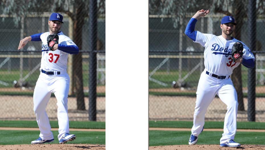 Brandon Beachy, shadow-pitching (Jon SooHoo/Los Angeles Dodgers)