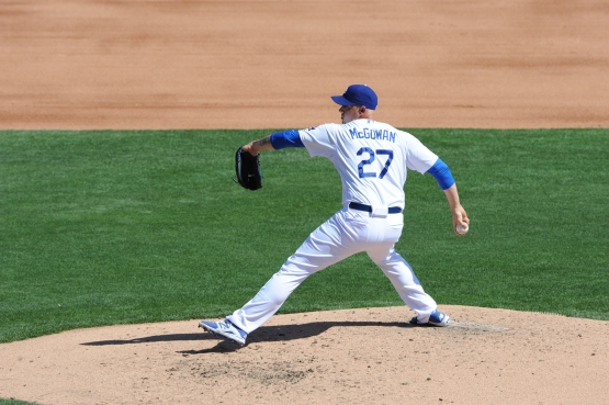 Dustin McGowan (Jon Soo Hoo/Los Angeles Dodgers)