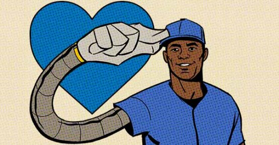 Yasiel Puig in cartoon form, courtesy of Sony Computer Entertainment America
