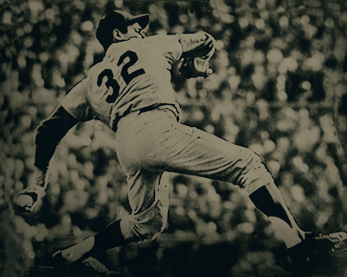 Unique Tintype 16659 (8x10 inches): Sandy Koufax, Brooklyn Dodgers, by Tabitha Soren