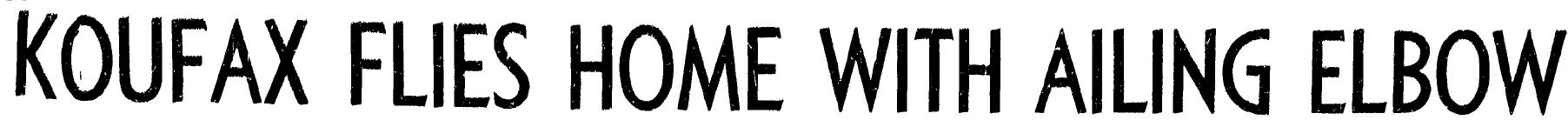 Koufax headline