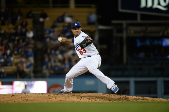 Yimi Garcia has struck out 33 and walked seven in 20 innings this season. (Jon SooHoo/Los Angeles Dodgers)