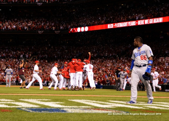 Yasiel Puig will be one of several key 2014 Dodgers who won't play in St. Louis this weekend.