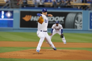 David Huff is one of nine pitchers to start for the Dodgers this year. (Jon SooHoo/Los Angeles Dodgers)