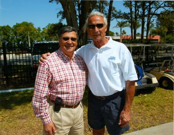 Jaime Jarrin y Sandy Koufax en Vero Beach, FL (2005)