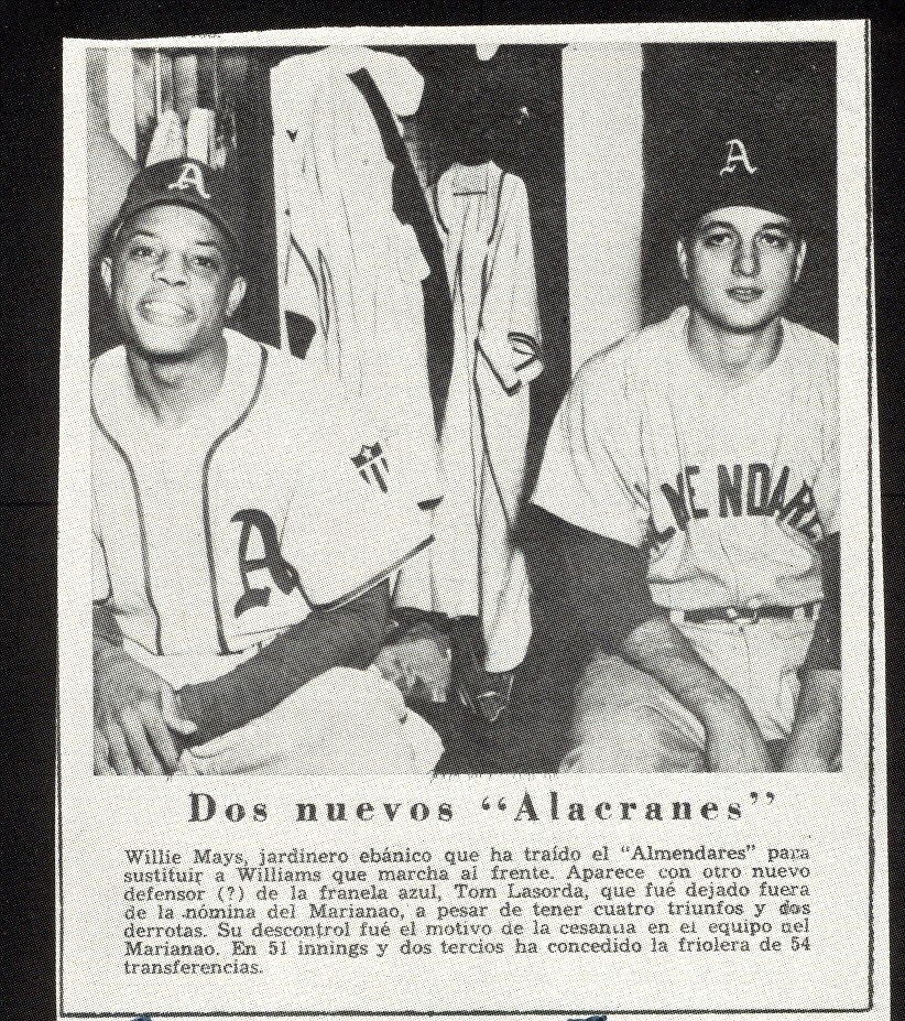 Tommy and Willie Mays in Cuba