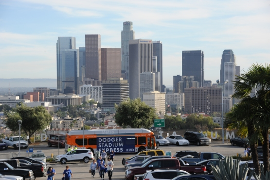 More than 100,000 fans took the Dodger Stadium Express to games this year. (Jon SooHoo/Los Angeles Dodgers)