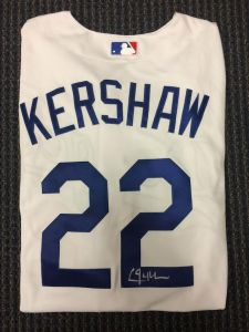 Clayton Kershaw Autographed Jersey