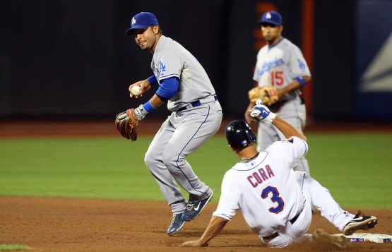 Juan Castro making a play on July 9, 2009 at Citi Field. (Jim McIsaac/Getty Images)