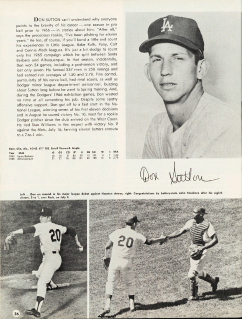 A look to the future included the young Don Sutton