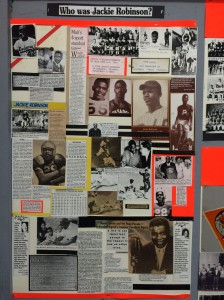 A tribute to Jackie Robinson in the Muir High School museum.