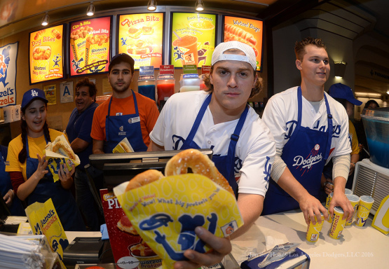 Los Angeles Dodgers Love LA Tour at Wetzels Pretzels at Union Station