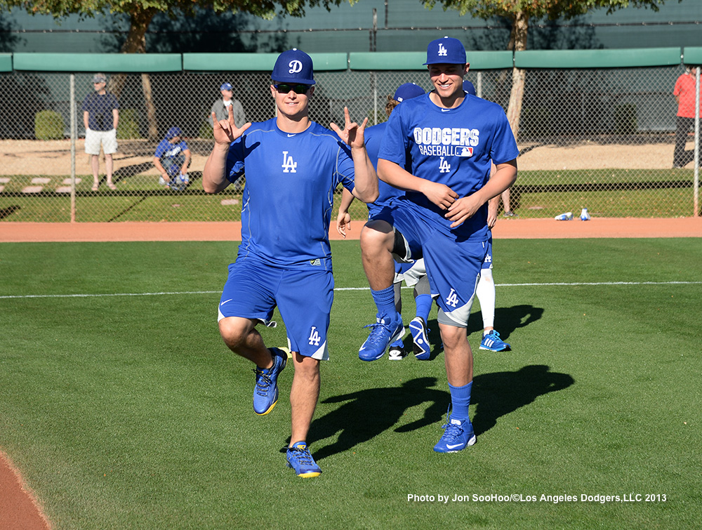 Los Angeles Dodgers Joc Pederson and Corey Seager