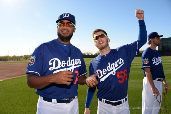 Los Angeles Dodgers first workout for pitchers and catchers