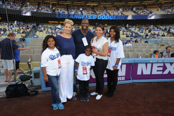 Terry Crews, his wife Rebecca and their family at Dodger Stadium in 2013. (Juan Ocampo/Los Angeles Dodgers)