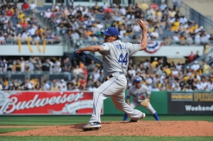 Vicente Padilla allowed seven runs in 4 1/3 innings on Opening Day 2010. (Jon SooHoo/Los Angeles Dodgers)