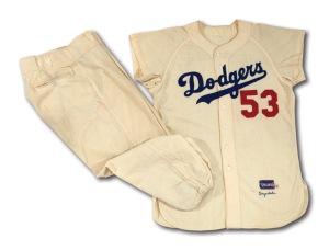 1956 Brooklyn Dodgers Home Uniform