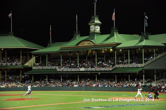 Clayton Kershaw opens the 2014 MLB season in Sydney, Australia.