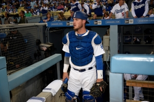Only injuries have slowed Yasmani Grandal's hot hitting with the Dodgers (Jon SooHoo/Los Angeles Dodgers)