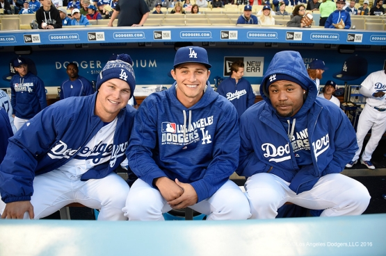 Left-handed hitters Joc Pederson, Corey Seager and Carl Crawford