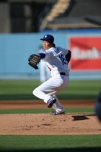 Kenta Maeda will test his 0.47 ERA at Coors Field. (Jon SooHoo/Los Angeles Dodgers)