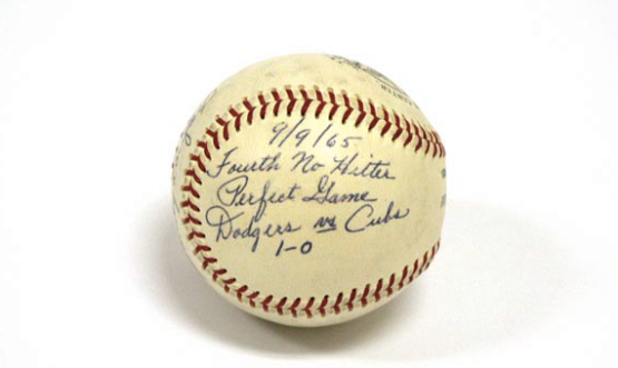 A ball Sandy Koufax gifted to Walter O'Malley from his fourth no-htter. walteromalley.com