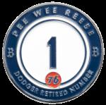 5.9.16 Retired Numbers Pin Series - Pee Wee Reese presented by 76