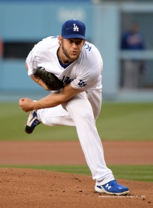 Clayton Kershaw follows through on a pitch delivery. Jill Weisleder/Dodgers