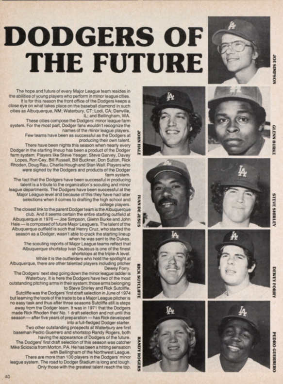Dodgers of the Future, 1976
