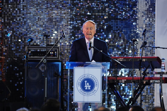 Vin Scully at the Los Angeles Dodgers Foundation inaugural Blue Diamond Gala on April 16, 2015.