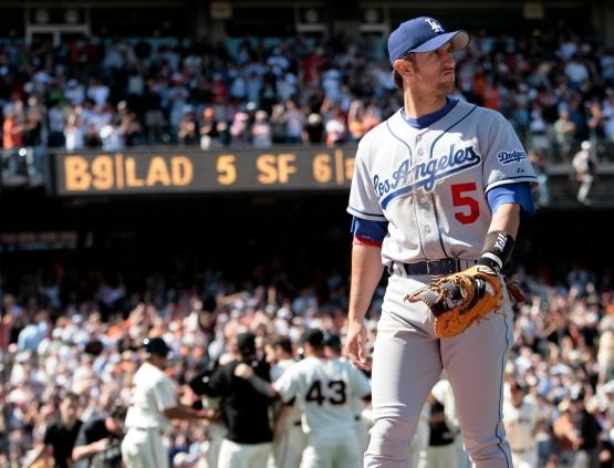 Nomar Garciaparra Los Angeles Dodgers vs San Francisco Giants Saturday, May 13, 2006 in San Francisco,California. The Giants beat the Dodgers 6-5. © Jon SooHoo