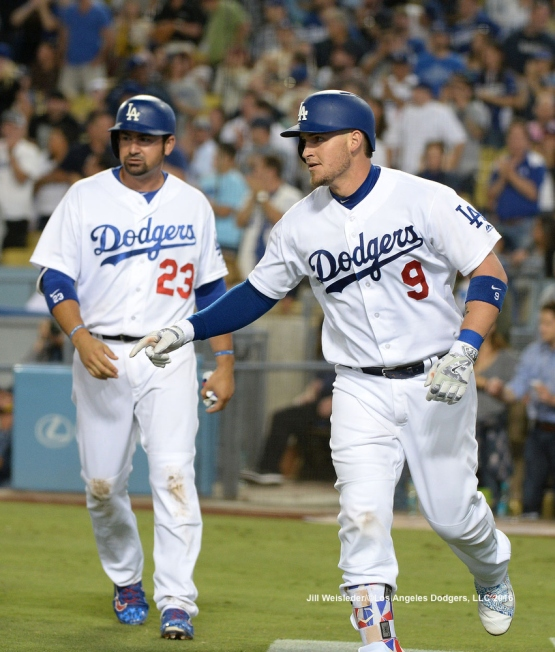 Adrian Gonzalez reached base four times July 8, the night of Yasmani Grandal's three home runs.