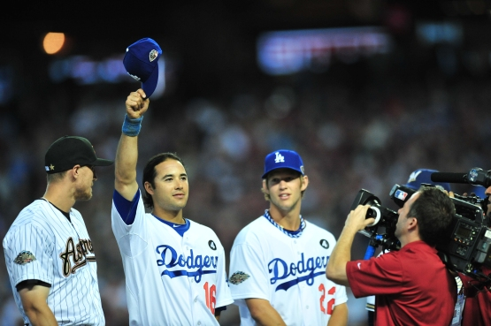 Andre Ethier is introduced before the 2011 All-Star Game. ()Barry Gossage/MLB Photos via Getty Images)