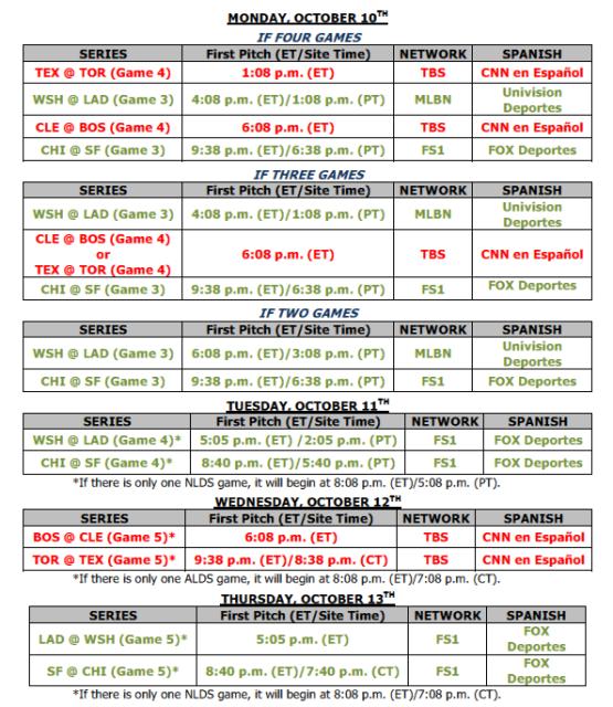 nlds-schedule-october-10-13