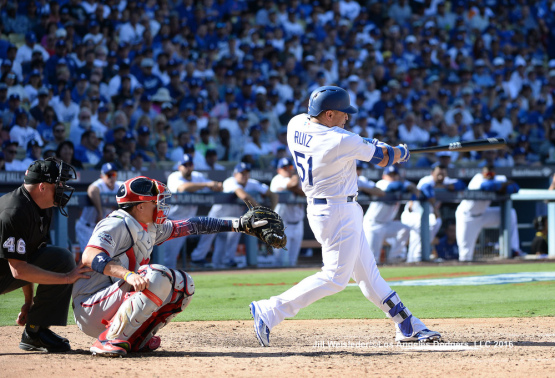 NLDS GAME 3--LOS ANGELES DODGERS V WASHINGTON NATIONALS